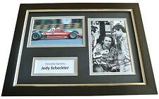 Jody Scheckter Signed A4 FRAMED Photo Autograph Display Formula 1 Racing & COA