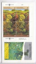 TIMBRE STAMP FDC COVER NATIONS UNIES VIENNE Y&T#81-82 x 2 ARBRE FORET 1988 ~B74