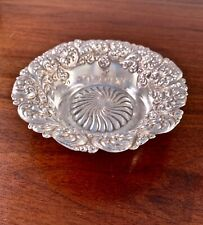 GORHAM STERLING SILVER BOWL WITH SWIRLING REPOUSSE DECORATION NO MONO #478M