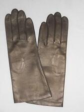 Fownes 100% Silk Lined Genuine Leather Gloves, Bronze,M