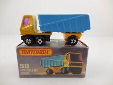 Matchbox Superfast 50 Articulated Truck Yellow Blue Mint in K Box