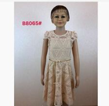 KIDS LACE DRESS B8065 AG - BEIGE