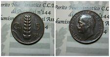 Vittorio Emanuele III 5 Centesimi Spiga 1934 bb+