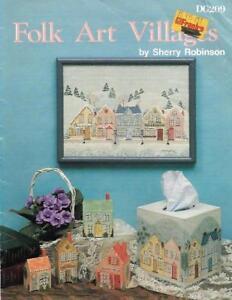 Folk Art Villages by Sherry Robinson DG209 1988 Folk Art Painting Booklet