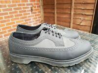 Dr Martens 3989 Brogue Mens Black Canvas Wingtip Shoes UK 13 48 ref14P5