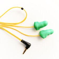 PLUGFONES Y/G Foam NOISE CANCELLATION EARBUDS EARPLUGS HEADPHONES EAR PROTECTION