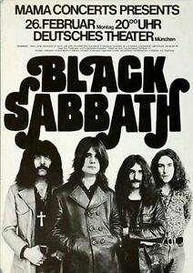 Black Sabbath 1978 CONCERT  METAL TIN SIGN POSTER WALL PLAQUE