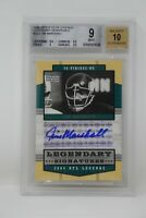 2004 Upper Deck Legends Legendary Signatures Jim Marshall Beckett 9 MINT**