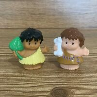 Fisher Price Little People Lil Dino Caveman Cave Woman Figure Lot Dinoland