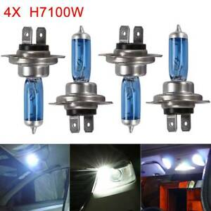 4 X H7 100W 6000K Xenon HID Super White Effect Look Headlight Lamps Light Bulbs