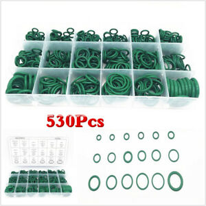 Boxed 530Pcs 18 Sizes Car A/C System O-Ring Gasket Seals Washer Seal Repair Kit