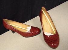 "KAREN SCOTT NIB RED LEATHER 3"" COLLIN SHOE SZ 9"
