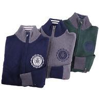 Tommy Hilfiger Men Mock Neck Full Zip Logo Solid Sweater Jacket - $0 Free Ship