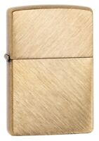 Zippo Classic Herringbone Sweep Brass Windproof Pocket Lighter, 29830
