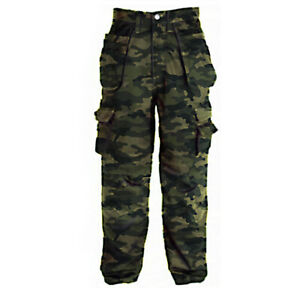 ❤️ Mens Army Military Cargo Combat Trousers Camo Camouflage Pants Work Bottom US