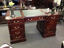 Partners Desk 150cm Office Writing Desk Victorian Mahogany Antique Reproduction