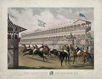 "1868 ART, Horse Racing, Jerome Park, N.Y. Jockey, antique, 20""x16"" Art print"
