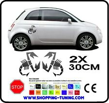 STICKERS KIT 2 ADHESIF EMBLEME LOGO POUR  FIAT 500 ABARTH 30