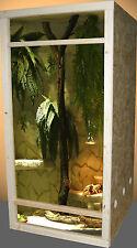Hochterrarium front cadre 60x120x60 multiplex le bouleau aucune moulure nécessaire