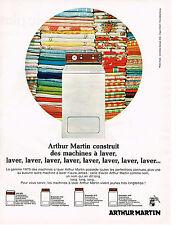 PUBLICITE  1970  ARTHUR MARTIN   machine à laver
