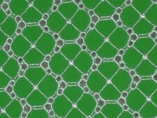 """Green lycra fabric embroidered eyelet material 4 way stretch By the yard x 43""""w"""