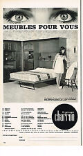 PUBLICITE ADVERTISING 064  1970  CHARRON   meubles lit abattable