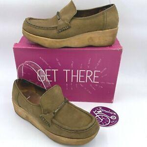 Vintage 1970s Famolare Loafers size 8N Brown Nubuck Wavy Sole w/ Box Sticker B1