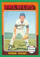 1975 TOPPS #223 ROBIN YOUNT RC NM  MILWAUKEE BREWERS  HOF  3000 HITS