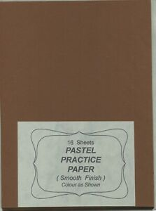 """A pack of 16 sheets """"  PASTEL PRACTICE PAPER. """"  ( Smooth  Finish  ) ."""