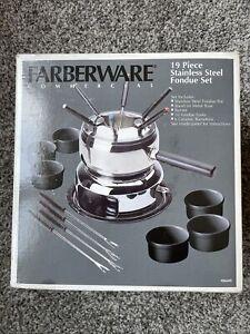 Farberware Commercial 19 Piece Set 18/8 Stainless Steel Fondue Set 15388