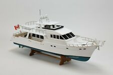 Grand Banks Yacht 72 Aleutian Handmade Wooden Model 36""