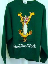 Disney Sweatshirt Medium Green Tigger Crew neck Cotton Blend M