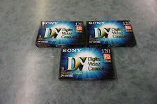 3 x Sony DV Digital Video Cassette DV120 MEM