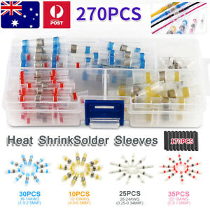 270X Seal Waterproof Heat Solder Sleeve Shrink Butt Terminals Wire Connector