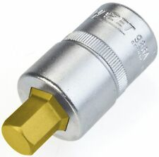 HAZET Screwdriver socket 986A-7/16 Square, hollow 12.5 mm (1/2 inch) Inside
