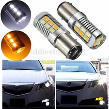 1157 BAY15D 4W 5630 22 SMD Yellow White LED Turn Signal Switchback Light Bulb