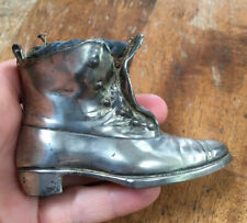 Genuine Antique Victorian, Jennings Brothers Silver Plated Boot Pin Cushion.