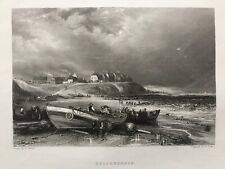 1841 Antique Print; Cullercoats, Northumberland - George Balmer