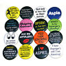 ASPERGER'S SYNDROME Set of 16 BADGES Buttons Pins Autism Aspergers