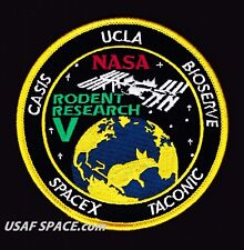 """RODENT RESEARCH 5 -SPACEX DRAGON CRS-11- ISS NASA CASIS 4"""" REPRO - Mission PATCH"""