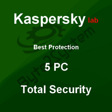 Kaspersky Total Security 2019 - 5 Pc/md/1 Anno/multilingue/esd