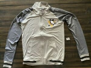 Pittsburg Penguins Youth Sz S Gray Zip Up Jacket NEW NWOT   SPT737