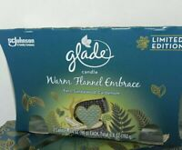 """2 Glade """"limited edition"""" Warm Flannel Embrace Scented Candles smells wonderful"""