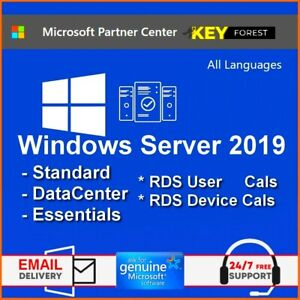 W - Server 2019 Standard / Datacenter / Essentials - 50 User / Device CALs RDS