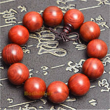 Buddha Buddhist Mantra Prayer Brazilian Rosewood 12mm Beads Bracelet