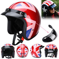 Vintage Retro 3/4 Open Face Motorcycle Helmet DOT Approved Scooter Cafe Racer US
