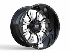 20x12 Xtreme Mudder XM 323 Wheels Black Offroad Rims 35 Tires Lifted Chevy Ford
