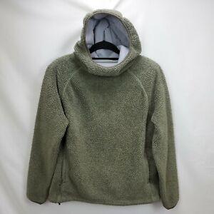 Burton Dryride Sherpa Fleece Nam Dinh Hoodie Jacket Medium Olive Green Pullover