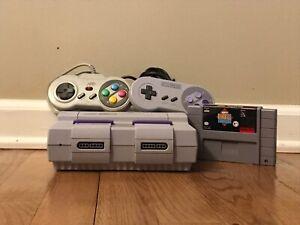 Nintendo Super Nintendo Entertainment System Gray Home Console