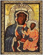 Religious Catholic Icon Our Lady Of Czestochowa Matka Boska Częstochowska